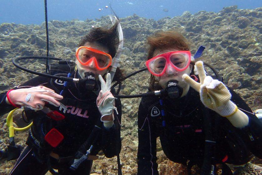 サンゴホール・体験ダイビング