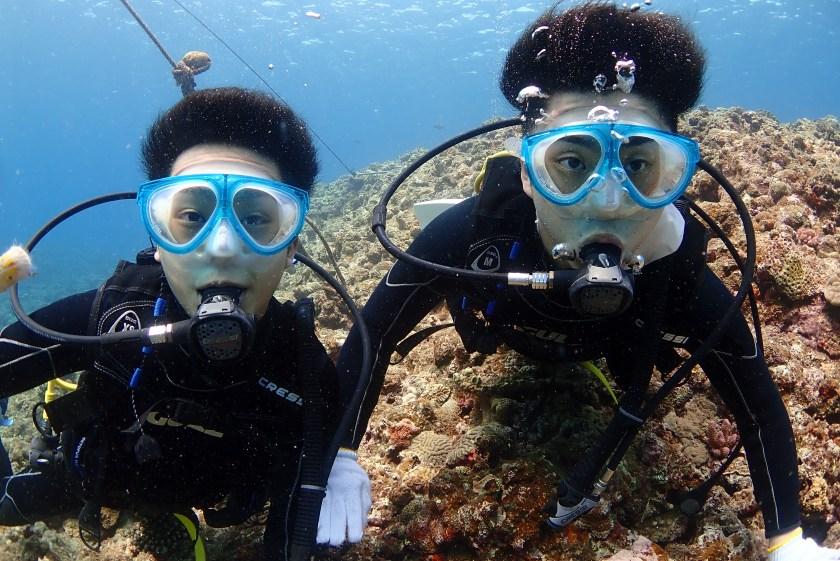 メンズ2人で体験ダイビング