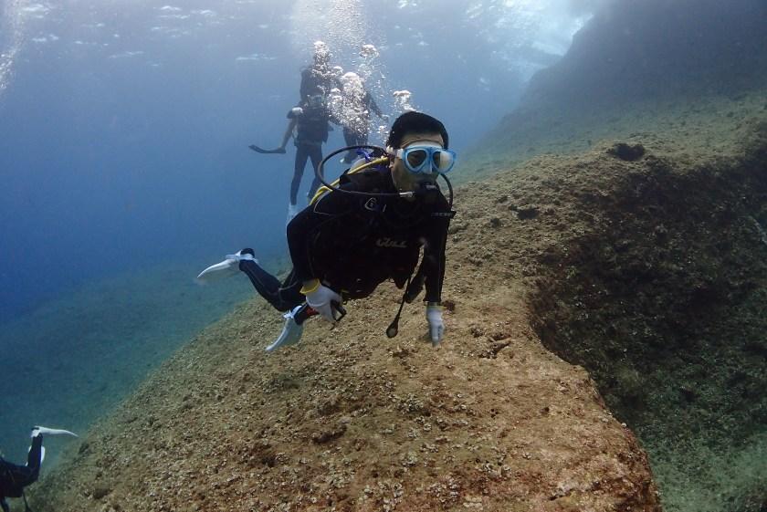 伊良部島の白鳥崎で体験ダイビング