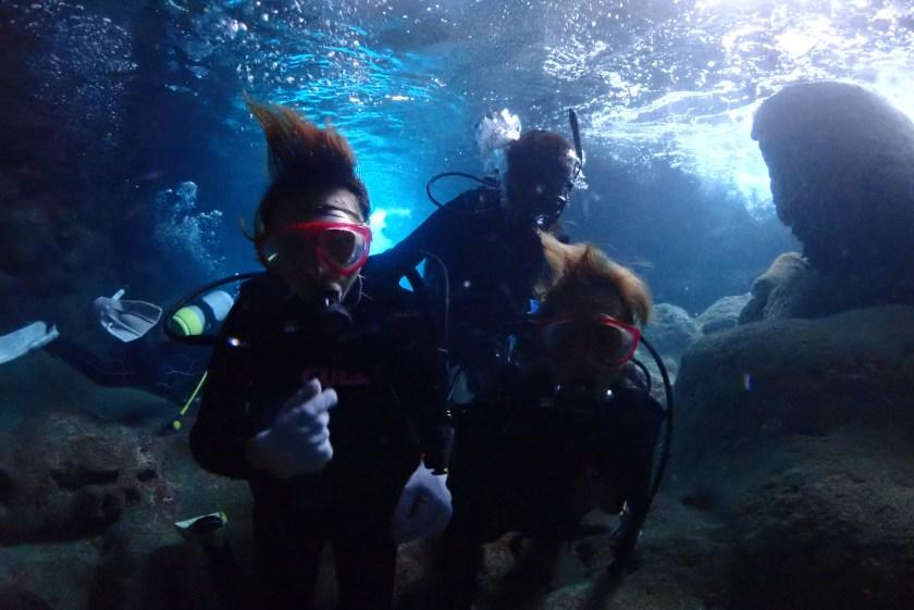 ツインホールで体験ダイビング