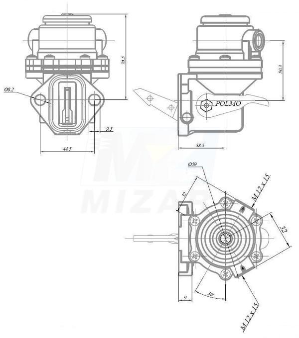 Pompka zasilająca 4667510 Polmo Case Fiat Ford New Holland