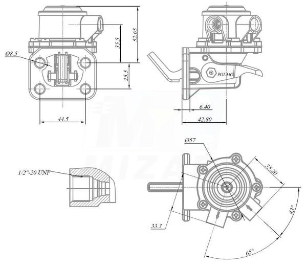 Pompka zasilająca paliwa 3639696M91 Polmo Case Landini