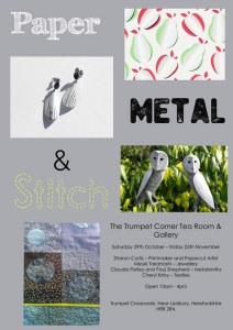 paper metal and stitch flyer