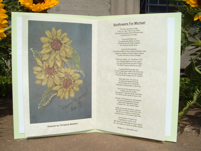 Close-up of the Gorgeous Artwork and Poem