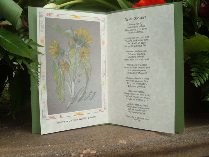 Christine Wallden's Painting and Michelle Gold's Poem