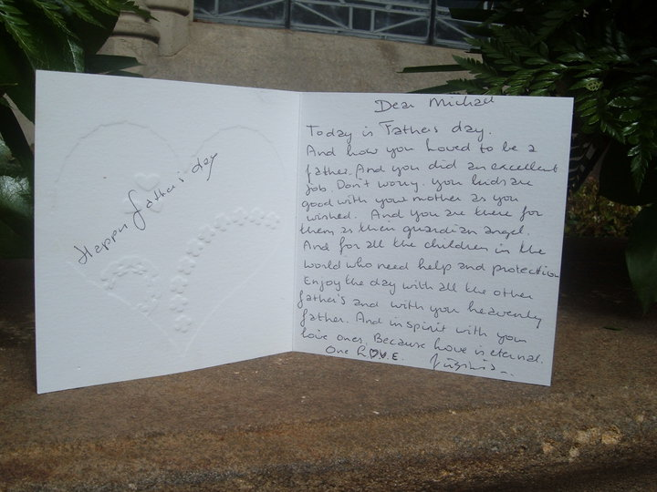 A late-arriving Father's Day Card for Michael