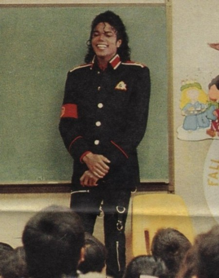 Michael at Stockton Elementary after the shooting