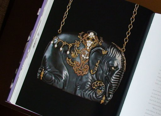 The elephant purse Michael gave Elizabeth (from her book 'My Love Affair With Jewelry')