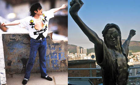Statue of Michael in Santa Marta