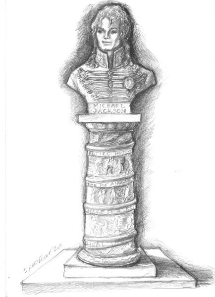 Sketch of proposed statue in Prague