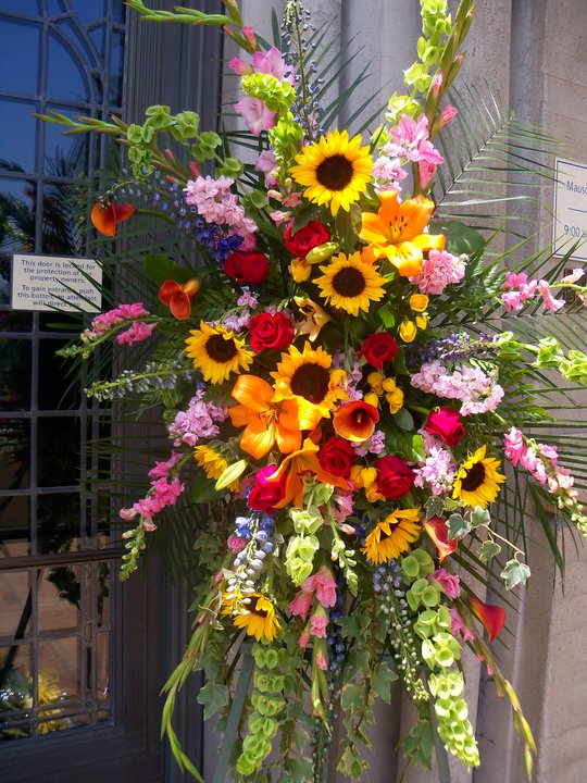 Beautiful Spray of flowers that went into Michael today. Each week two similarly large arrangements surround Michael from his fans.