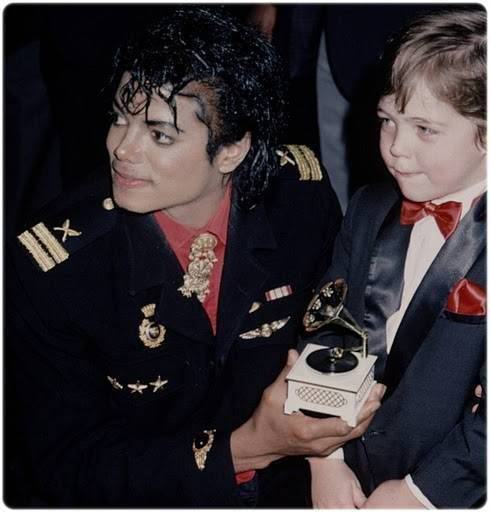 Michael with Christopher Rogers and that plastic Grammy
