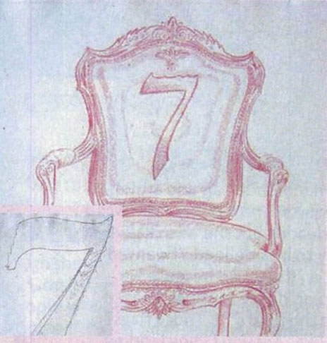 Number '7' Chair sketch by Michael