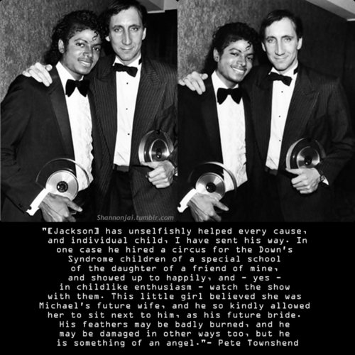 Pete Townshend on Michael Jackson