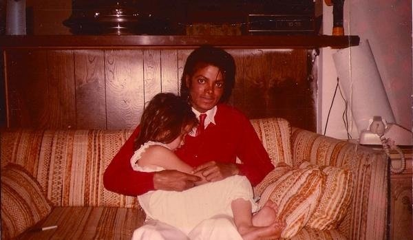 Michael with little LaLa Romero at 5