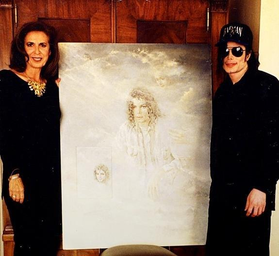 With Nati Canada and the portrait she did for him