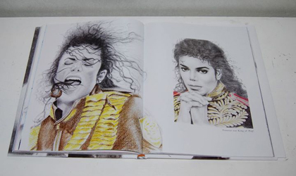 One of Eliza Lo's drawings of Michael