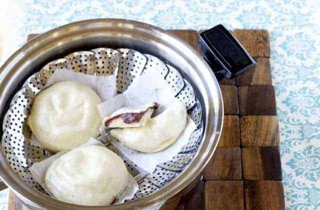 kitchen aid pasta press dark wood table red bean paste steamed buns - mj and hungryman austin ...
