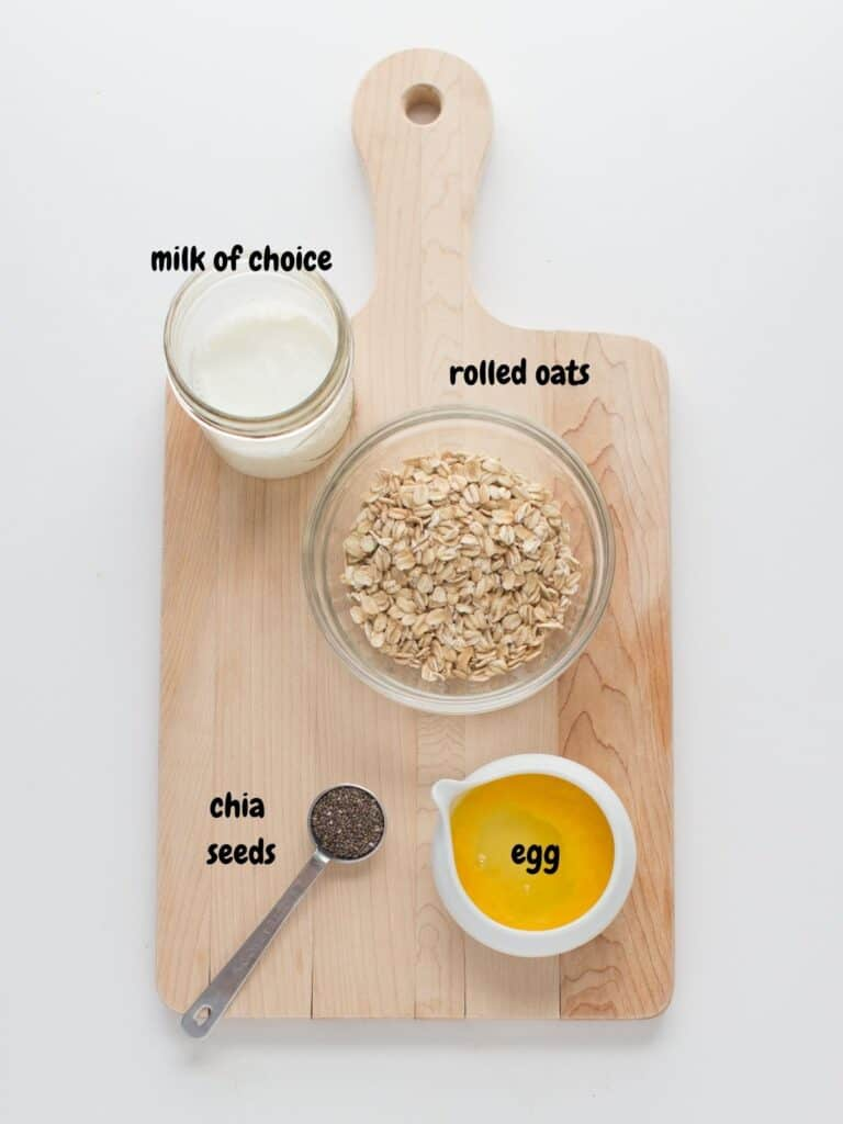 microwave egg oatmeals for babies mj