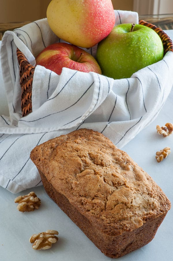 Apple Walnut Cake with Rum Butter Sauce