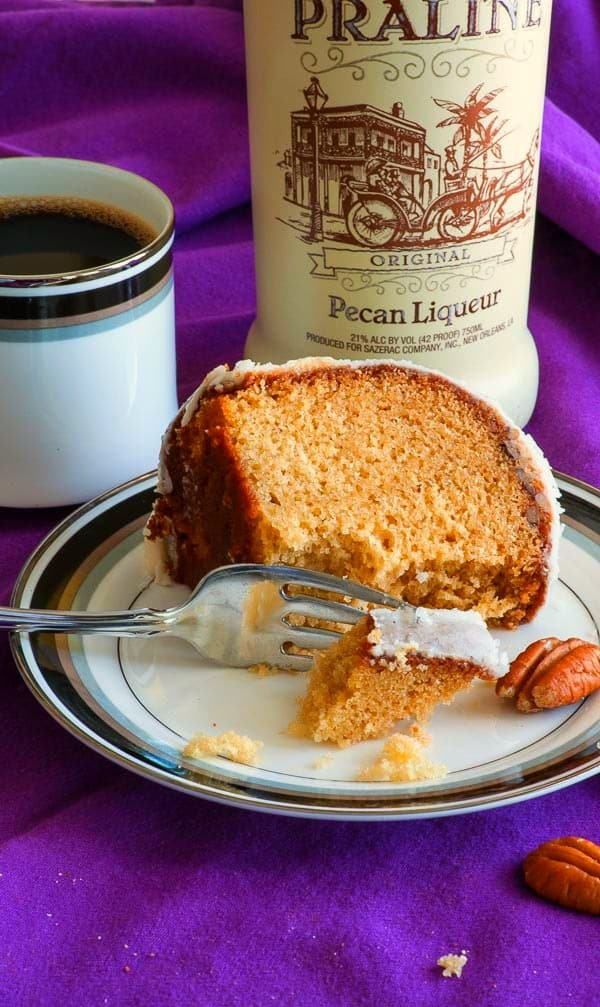 "Louisiana crunch cake is traditionally made with coconut, but I've updated the recipe for this beloved Southern treat with brown sugar, pecans, and pecan liqueur to give it rich caramel notes and flavor reminiscent of pralines. Add ""Make Louisiana crunch cake with pecans and coconut"" to your to-do list; you won't regret it. 