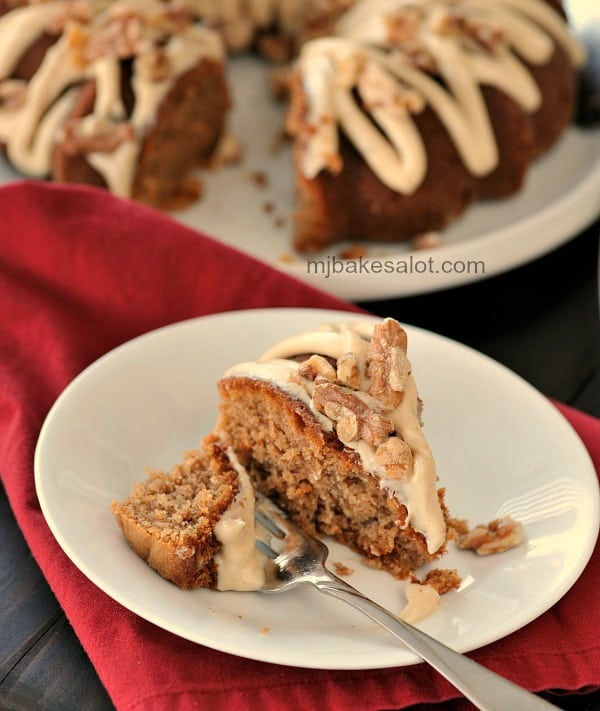 An enticing slice of chai Bundt cake is great at any time of day. | mjbakesalot.com