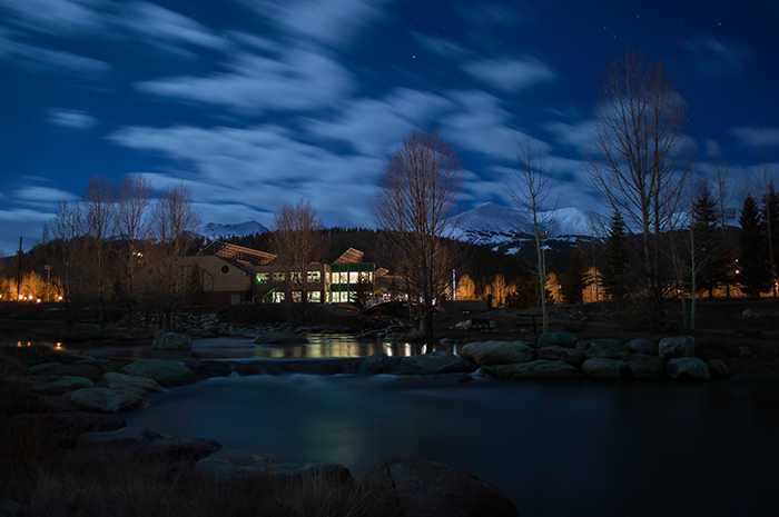 Breckenridge Blue River Night