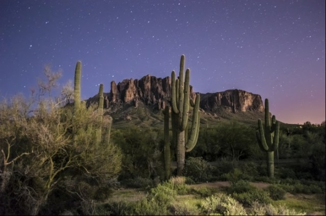 Arizona Superstition Mountains Night