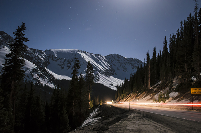 Loveland Pass Night