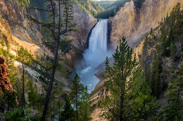 The Lower Falls at Yellowstone River