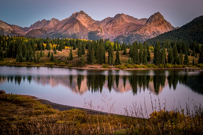 Evening Glow at Molas Lake