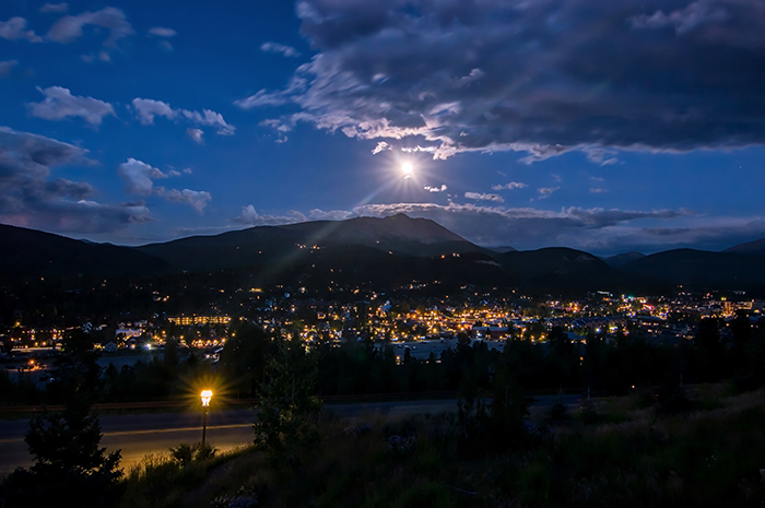 Moon Rising Over Breckenridge