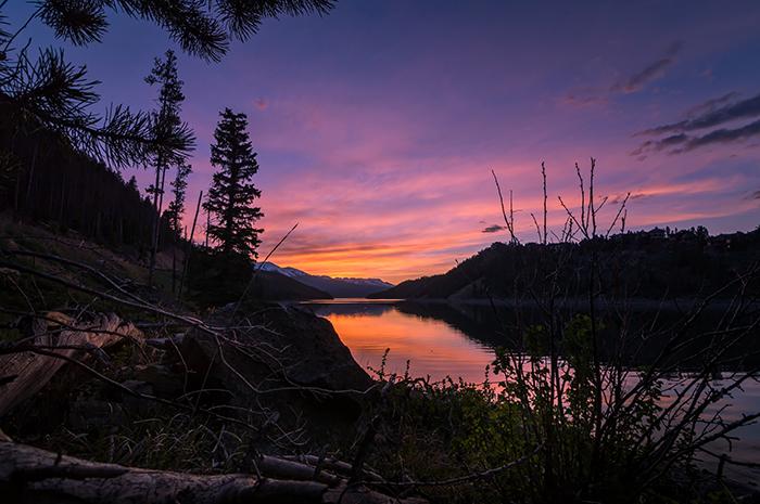 South shore Lake Dillon Sunset