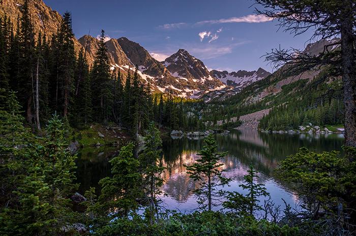 Upper Slate Lake Evening Glow