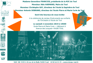 invitation remise instruments 2019
