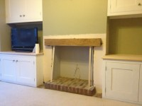 Built-in Alcove Units & Fireplace Beam | MJ Carpentry ...