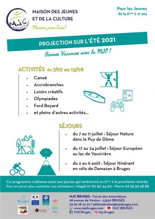 Vacances et Séjours Jeunes / été 2021