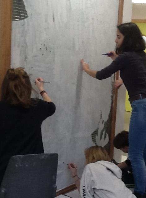 Ateliers poterie céramique et dessin peinture expo mars 5