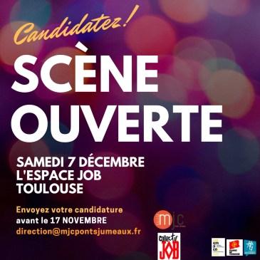 Scène ouverte 7 décembre – Candidatez avant le 17 novembre