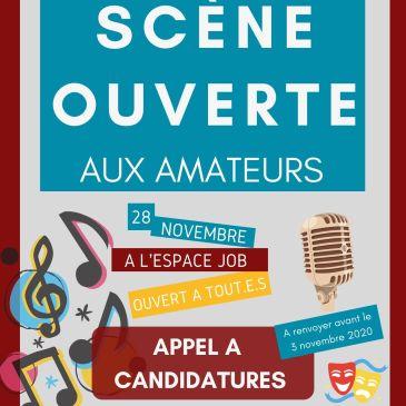 [ANNULATION] Scène ouverte 28 novembre – Candidatez avant le 3 novembre