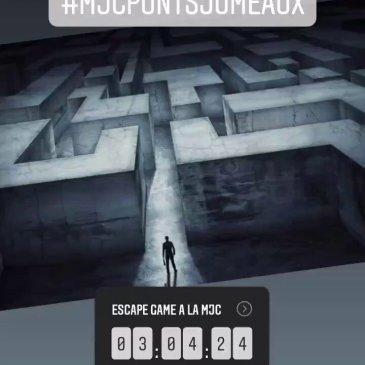 Samedi 30 Janvier – Escape Game à la MJC