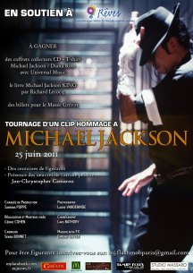 Affiche du tournage du clip musical caritatif