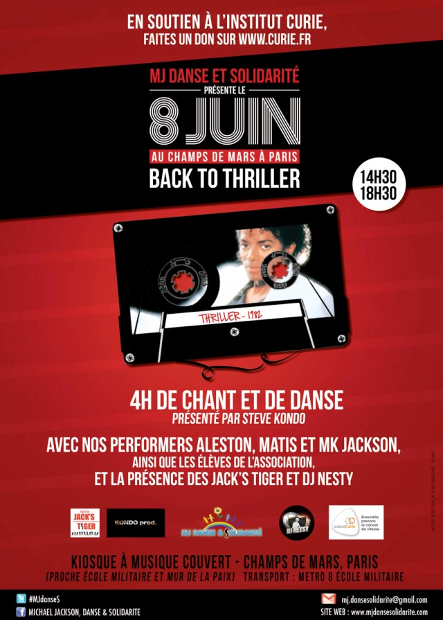 « BACK TO THRILLER » EN SOUTIEN DE L'INSTITUT CURIE AU CHAMPS DE MARS A PARIS