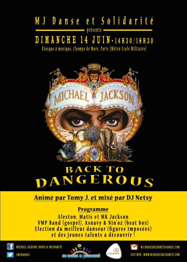"""MJ DANSE ET SOLIDARITÉ SHOW FIN D'ANNÉE : """"BACK TO DANGEROUS"""""""