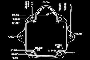 Hydraulic pump gasket