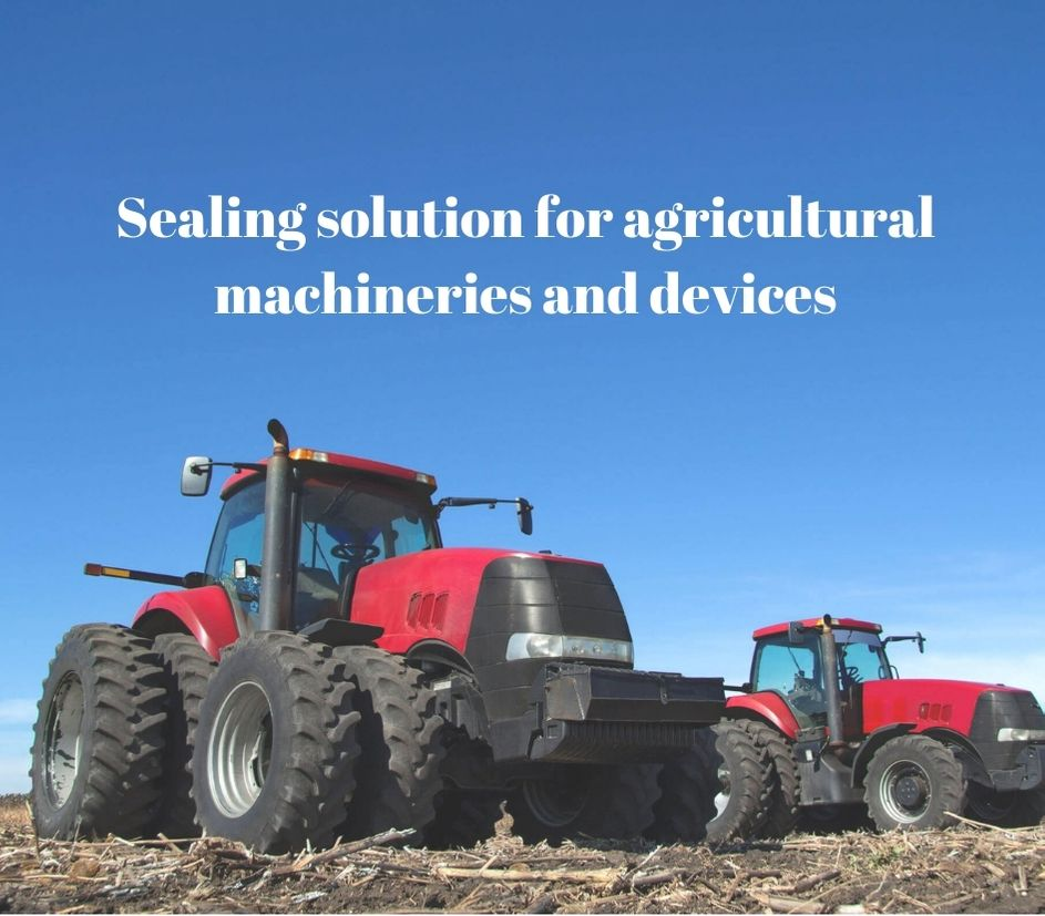 Sealing solution for agricultural machineries and devices