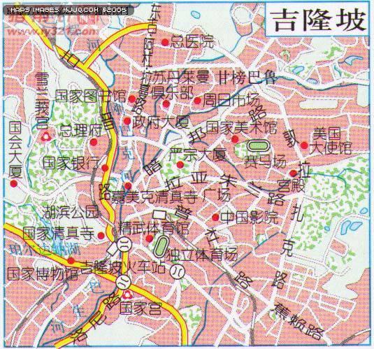 吉隆坡地圖 - 亞洲地圖 Asia Maps.世界地圖- 美景旅遊網