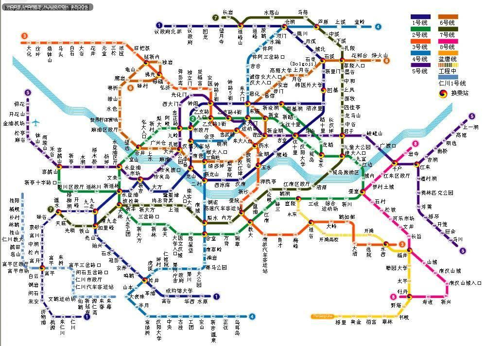 首爾地鐵交通線路地圖 - 亞洲地圖 Asia Maps.世界地圖- 美景旅遊網