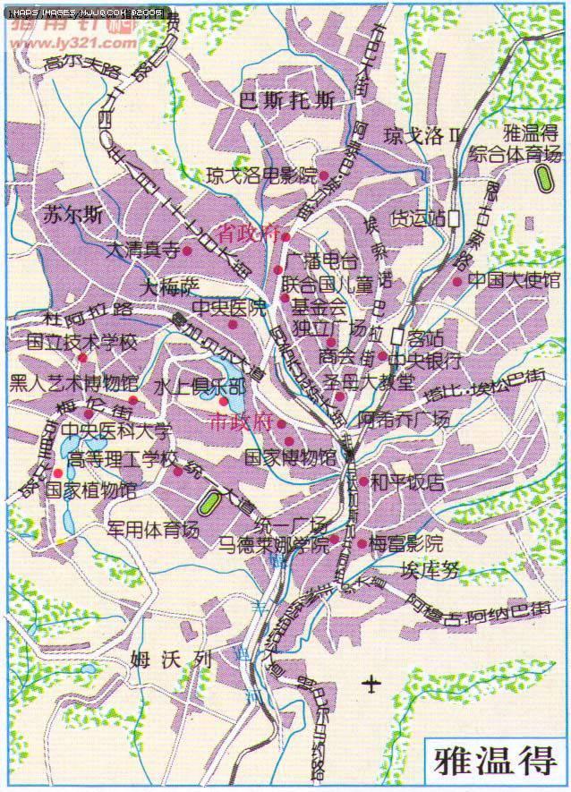 喀麥隆雅溫得地圖 - 非洲地圖 Afica Maps.世界地圖- 美景旅遊網