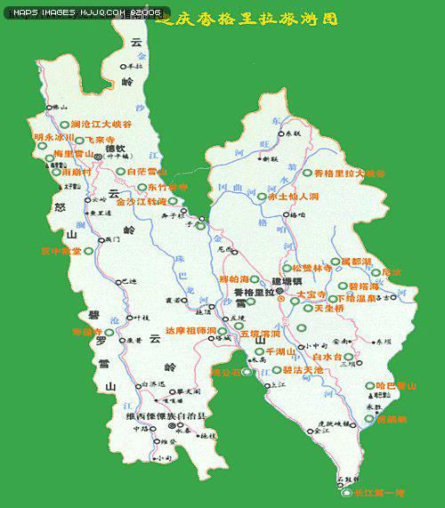香格里拉旅遊圖 - 雲南旅遊地圖 中國地圖 - 美景旅遊網